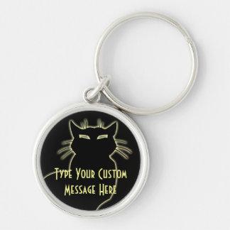 Les cadeaux de chat de Keychain de chat ont person Porte-clés