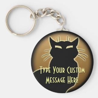 Les cadeaux de chat de Keychain de chat ont person