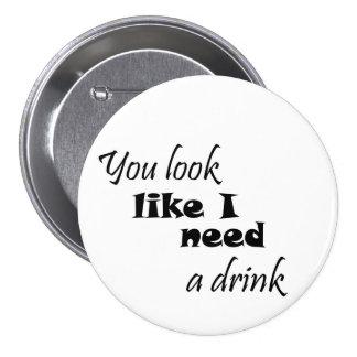Les cadeaux de vin du cadeau des femmes drôles câl badge rond 7,6 cm