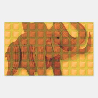Les CADEAUX DRÔLES d'art décoratif de bouton Sticker Rectangulaire