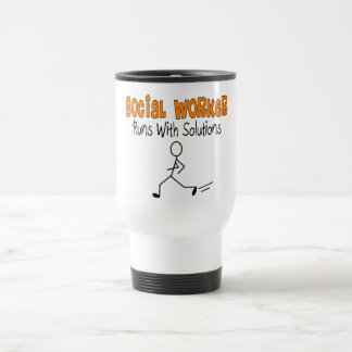 Les cadeaux drôles de solutions d'assistant social mug