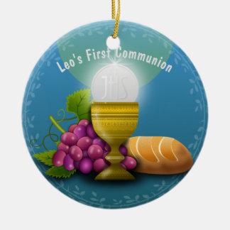 Les cadeaux saints d'eucharistie ajoutent la ornement rond en céramique