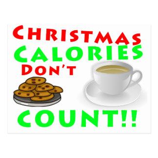 Les calories de Noël ne comptent pas l'humour Cartes Postales
