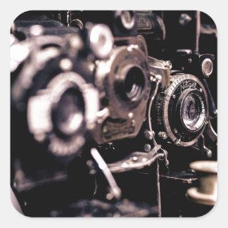 les caméras sticker carré