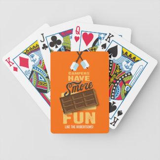 Les campeurs ont le cadeau de Glamping d'amusement Cartes À Jouer