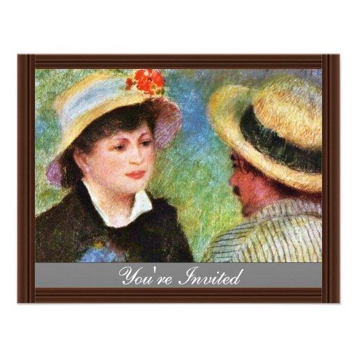Les Canotiers par Pierre-Auguste Renoir Carton D'invitation