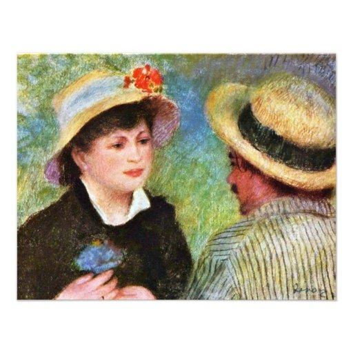 Les Canotiers par Pierre-Auguste Renoir Cartons D'invitation