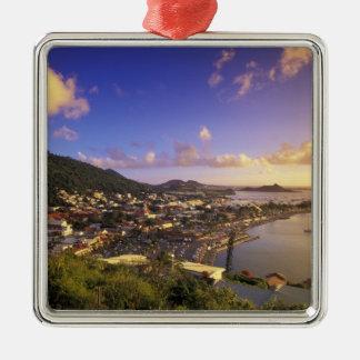 Les Caraïbe, Antilles françaises, St Martin. Ornement Carré Argenté