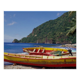 Les Caraïbe, BWI, St Lucia, voiliers, Soufriere. Posters