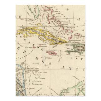 Les Caraïbe, le Golfe du Mexique et le Guatemala Carte Postale
