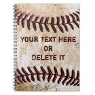 Les carnets vintages de base-ball ont personnalisé