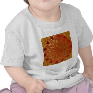 Les carrés MAGIQUES d'or ROUGE de n vérifie des ét T-shirt
