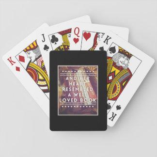 Les cartes de jeu d'amoureux des livres jeu de cartes