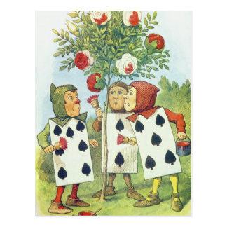 Les cartes de jeu peignant le rosier
