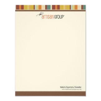 Les cartes de note de groupe d'artisan carton d'invitation 10,79 cm x 13,97 cm