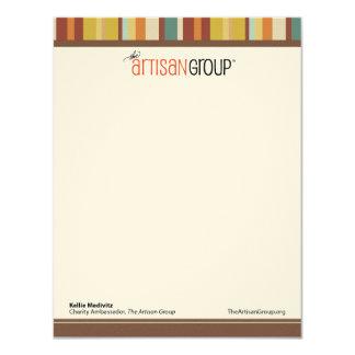 Les cartes de note de groupe d'artisan (Kellie) Carton D'invitation 10,79 Cm X 13,97 Cm