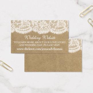 Les cartes de site Web de collection de mariage de