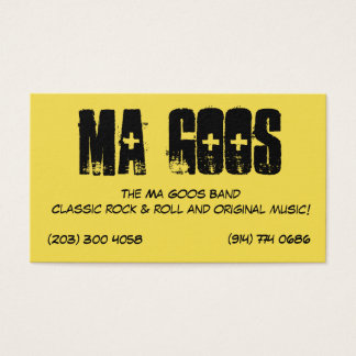 Les cartes de visite de substances gluantes de mA
