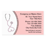 Les cartes de visite médicaux des femmes cartes de visite professionnelles