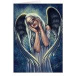 Les cartes de voeux blessées d'ange