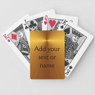 Les cartes faites sur commande de sembler métalliq jeux de cartes poker