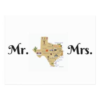 Les cartes postales de nouveaux mariés du Texas