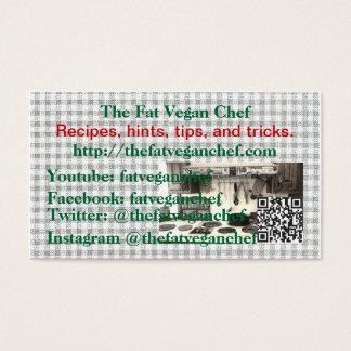 Les cartes végétaliennes de chef de graisse