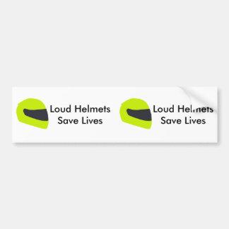 Les casques bruyants sauvent les vies X 2 Autocollant Pour Voiture