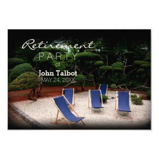 Les chaises longues ont personnalisé l'invitation carton d'invitation 8,89 cm x 12,70 cm