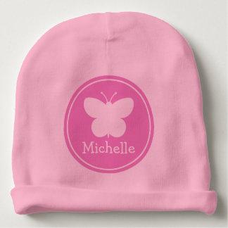 Les chapeaux roses girly faits sur commande de bonnet de bébé