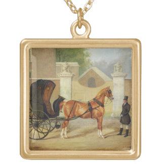 Les chariots des messieurs : Un cabriolet, c.1820- Pendentif Carré