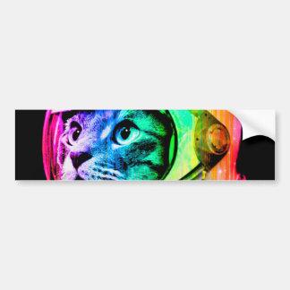 les chats colorés - astronaute de chat - espacent autocollant pour voiture
