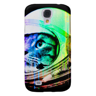 les chats colorés - astronaute de chat - espacent coque galaxy s4