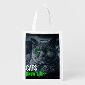 Les chats connaissent la substance sac réutilisable