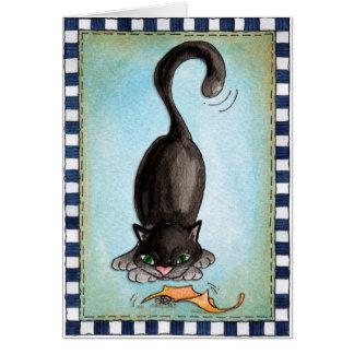Les chats les plus noirs - carte de voeux