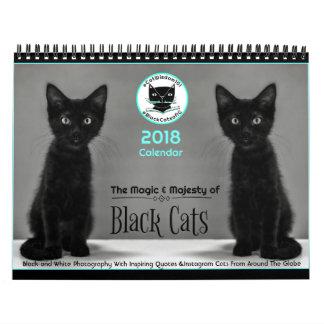 Les chats noirs indiquent chacun des calendrier