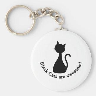 Les chats noirs sont impressionnants porte-clé rond