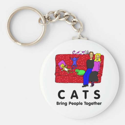 Les chats réunissent des personnes porte-clef