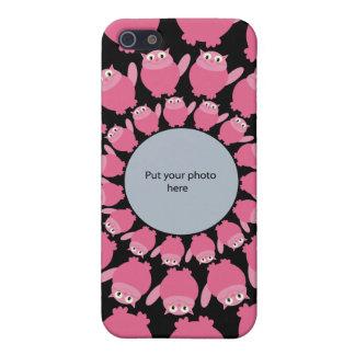 Les chats roses de bande dessinée ajoutent votre m étuis iPhone 5
