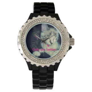 Les chats sont la montre des meilleures femmes montres cadran
