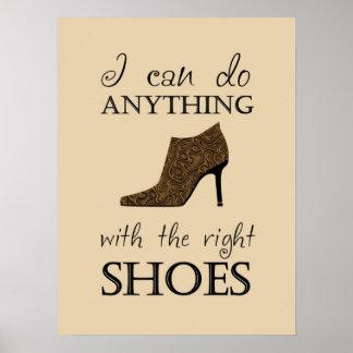 Les chaussures de droite affiches