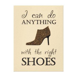 Les chaussures de droite toiles