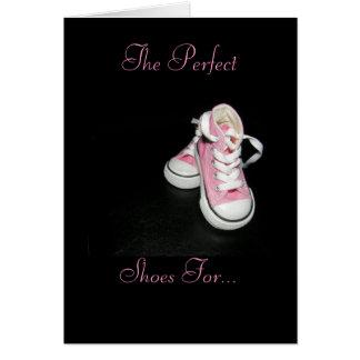 Les chaussures du papa carte de vœux