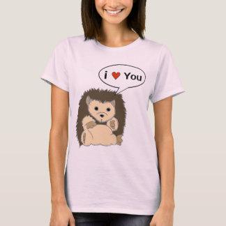Les chemises comiques de hérisson customisent la t-shirt