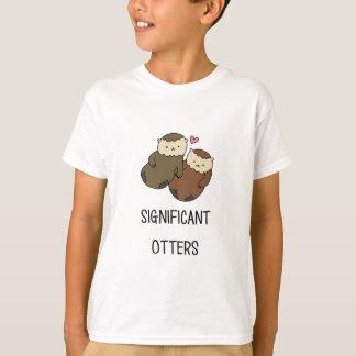 Les chemises du couple SIGNIFICATIF de LOUTRES, T-shirt