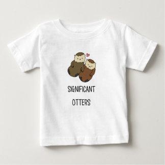 Les chemises du couple SIGNIFICATIF de LOUTRES, T-shirt Pour Bébé