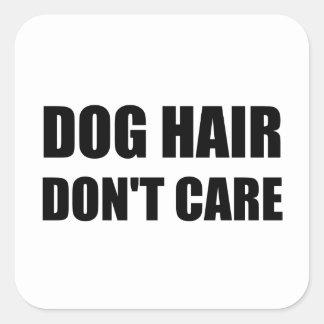 Les cheveux de chien ne s'inquiètent pas sticker carré