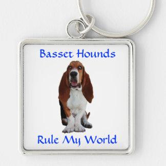 Les chiens de basset ordonnent mon porte - clé de porte-clés