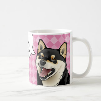Les chiens japonais noirs et bronzages de Shiba Mug