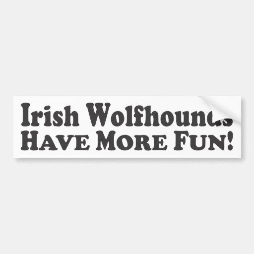 Les chiens-loup irlandais ont plus d'amusement ! - adhésifs pour voiture